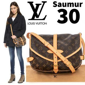 LOUIS VUITTON Saumur 30 Monogram Crossbody